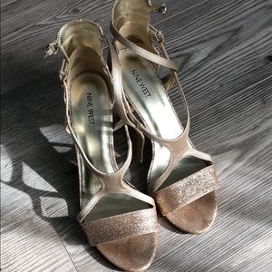 Gold holiday heels